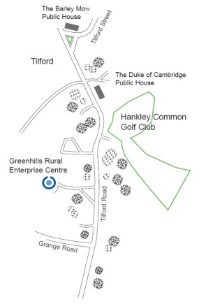 Upgrade Tilford site map